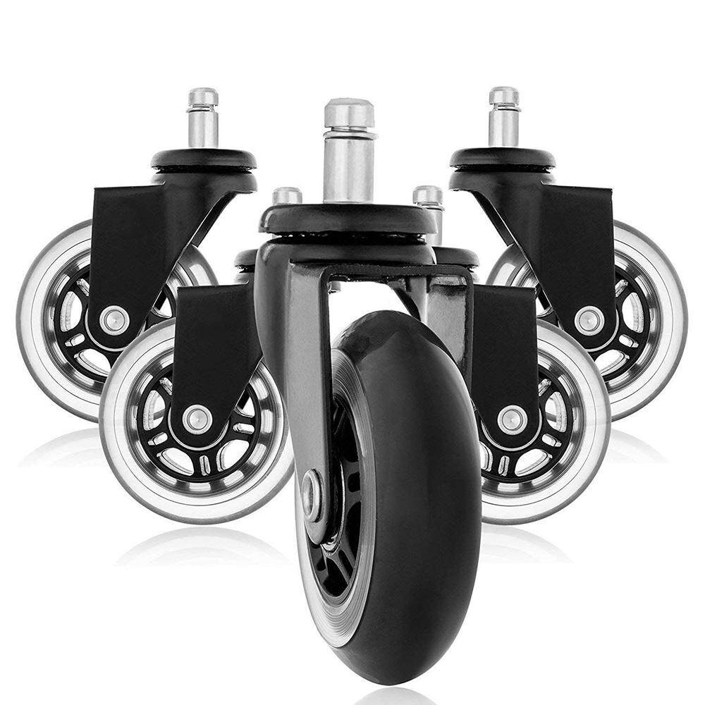 5pcs Office Chair Casters Universal Wheels 2.5 Caster Wheel Swivel Caster Universal Casters Omni-directional Wheels Furniture Casters
