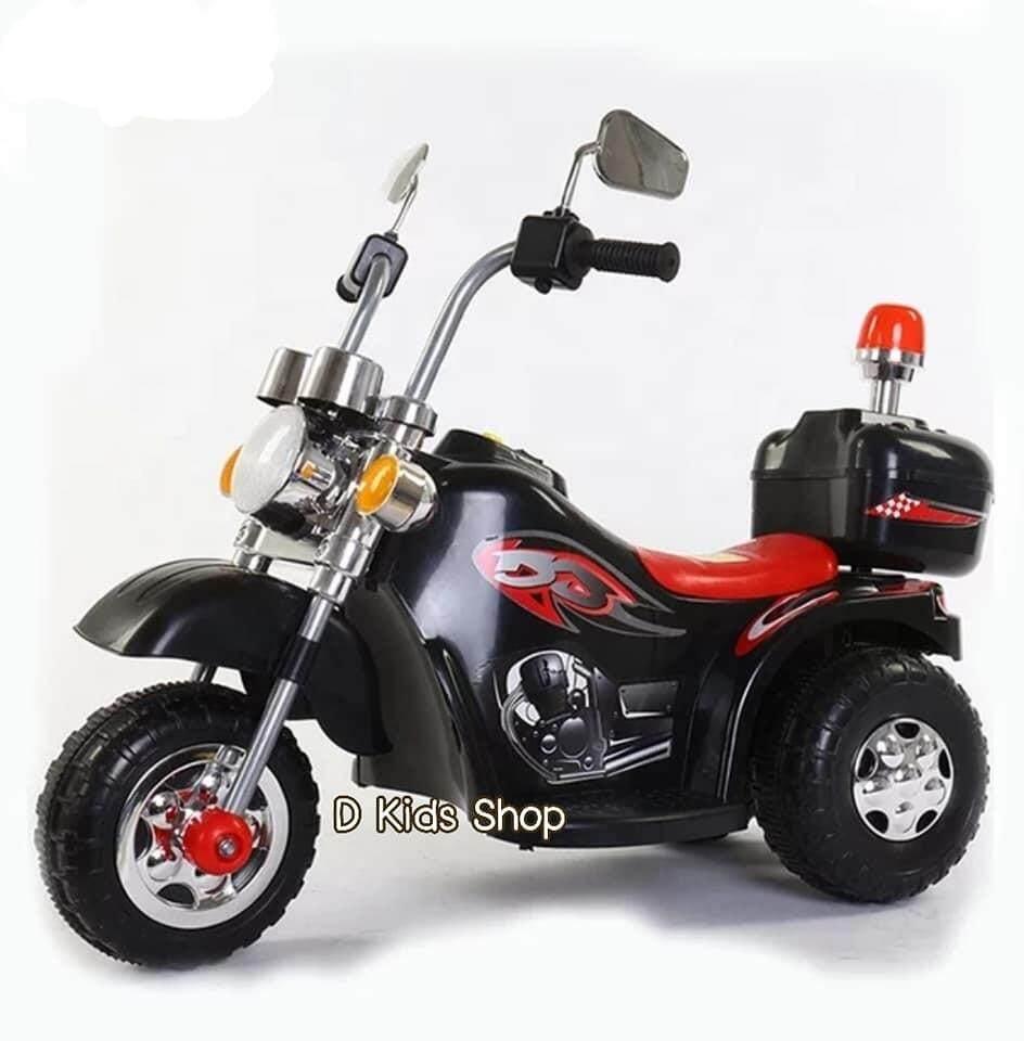 D Kids รถแบตเตอรี่เด็ก รถเด็กนั่ง มอเตอร์ไซค์ช้อปเปอร์ มินิ ขนาด1มอเตอร์ รถไฟฟ้าเด็ก By D Kids Toys.