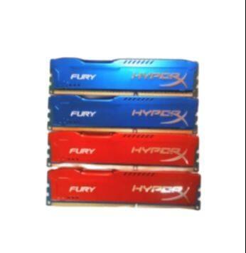 สินค้าใหม่ Hyperx Fury คละสี แรม 2gb Ddr3/บัส 1333 8ชิป ใส่ได้ทุกบอร์ด Ram คุณภาพสูง สินค้าตามรูปปก พร้อมใช้งาน.