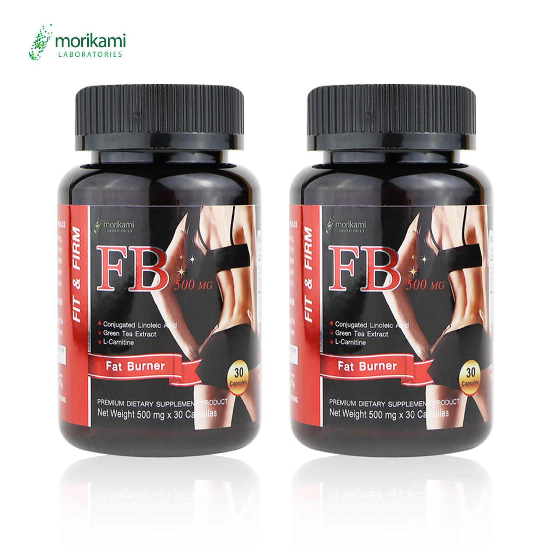 เผาผลาญไขมันส่วนเกิน ลดน้ำหนัก อาหารเสริมลดความอ้วน Fat Burner ลดพุง ลดต้นขา ลดต้นแขน บล็อคแป้ง บล็อคน้ำตาล บล็อคไขมัน สลายไขมันส่วนเกิน ดักไขมัน โมริคามิ Morikami เอฟบี Fb500 2 ขวด ขวดละ 30 แคปซูล.