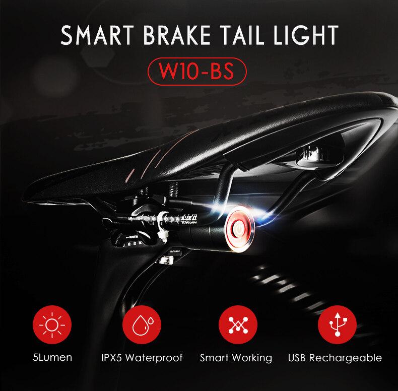 Gaciron Cycling Smart Visual Warning Safety Light Bicycle LED Tail Light Bike