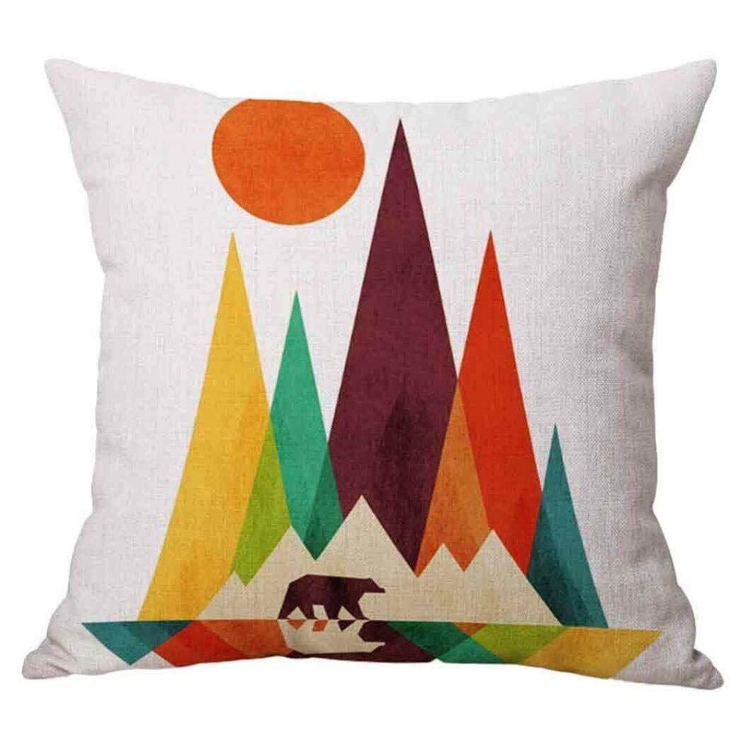 Xmas 18 x 18 Cushion Cover Geometric Design Home Decor Design Throw Pillow Cover Pillow Case