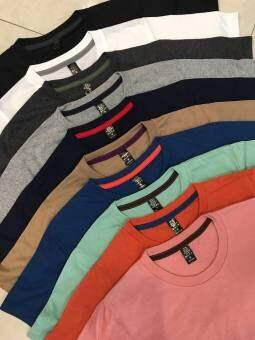 Best seller  เสื้อยืดคอกลม Cotton รวม 10 สีขายดี