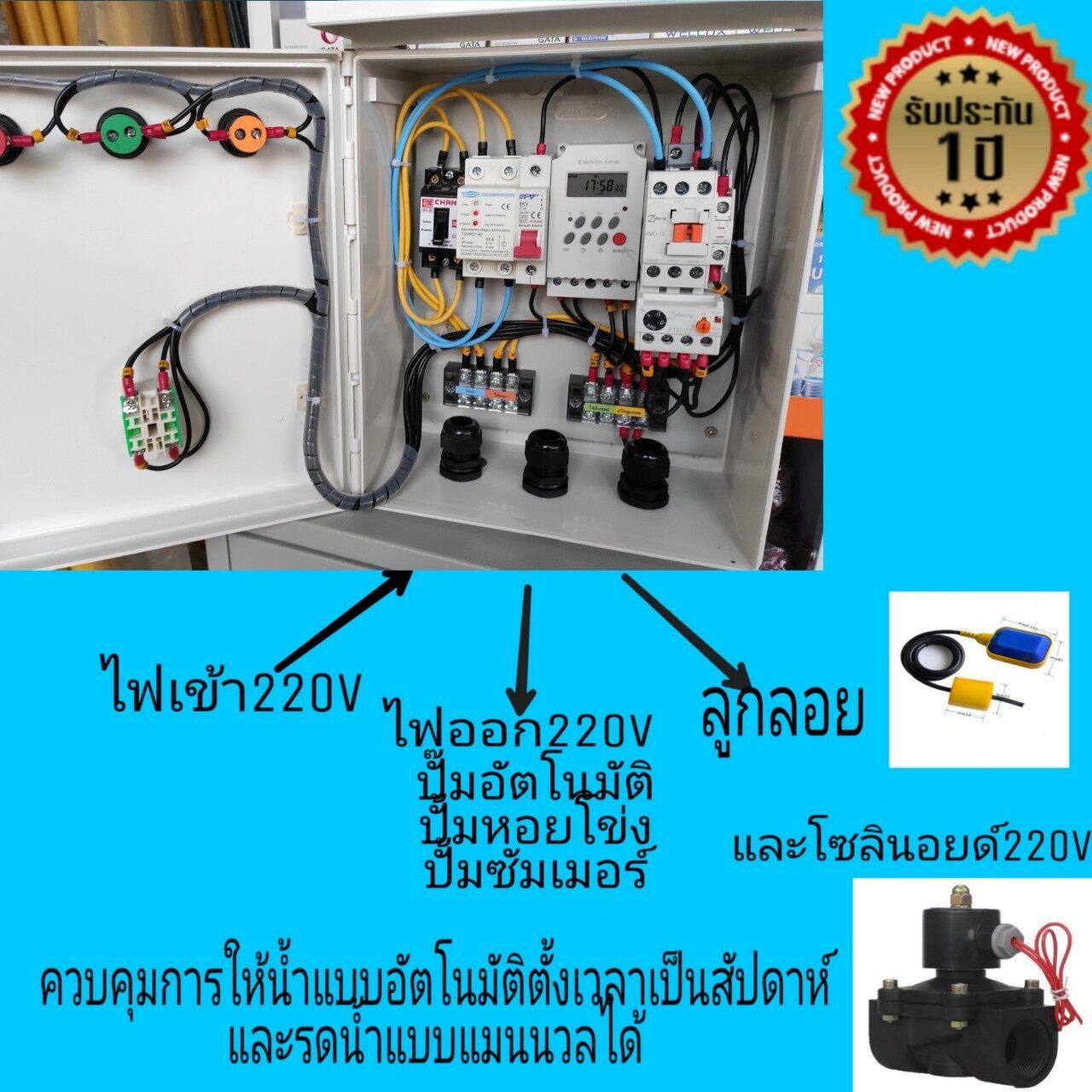 ตู้ควบคุมตั้งเวลาเปิด-ปิด,เครื่องตั้งเวลารดน้ำต้นไม้,ควบคุมเปิด-ปิดปั้มน้ำเป็นเวลาแบบอัตโนมัติ แบบป้องกันไฟตกไฟเกิน