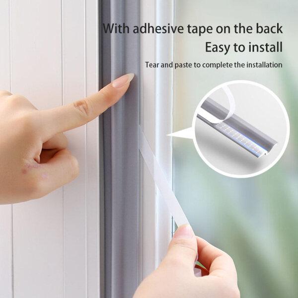 Foam Dustproof Bottom Door For Sliding Window Gap Dust Stopper Sealer Self Adhesive Tape Window Sealing Strip