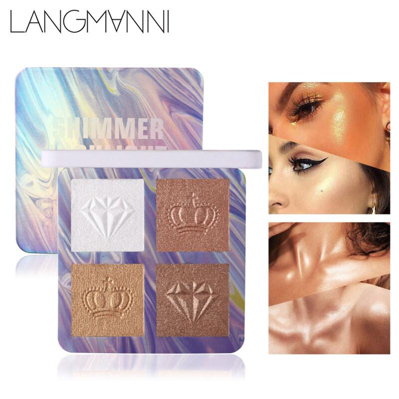 Langmanni 4 Màu Cao Đĩa Bột Nở Tạo Điểm Nhấn Tạo Khối Bột
