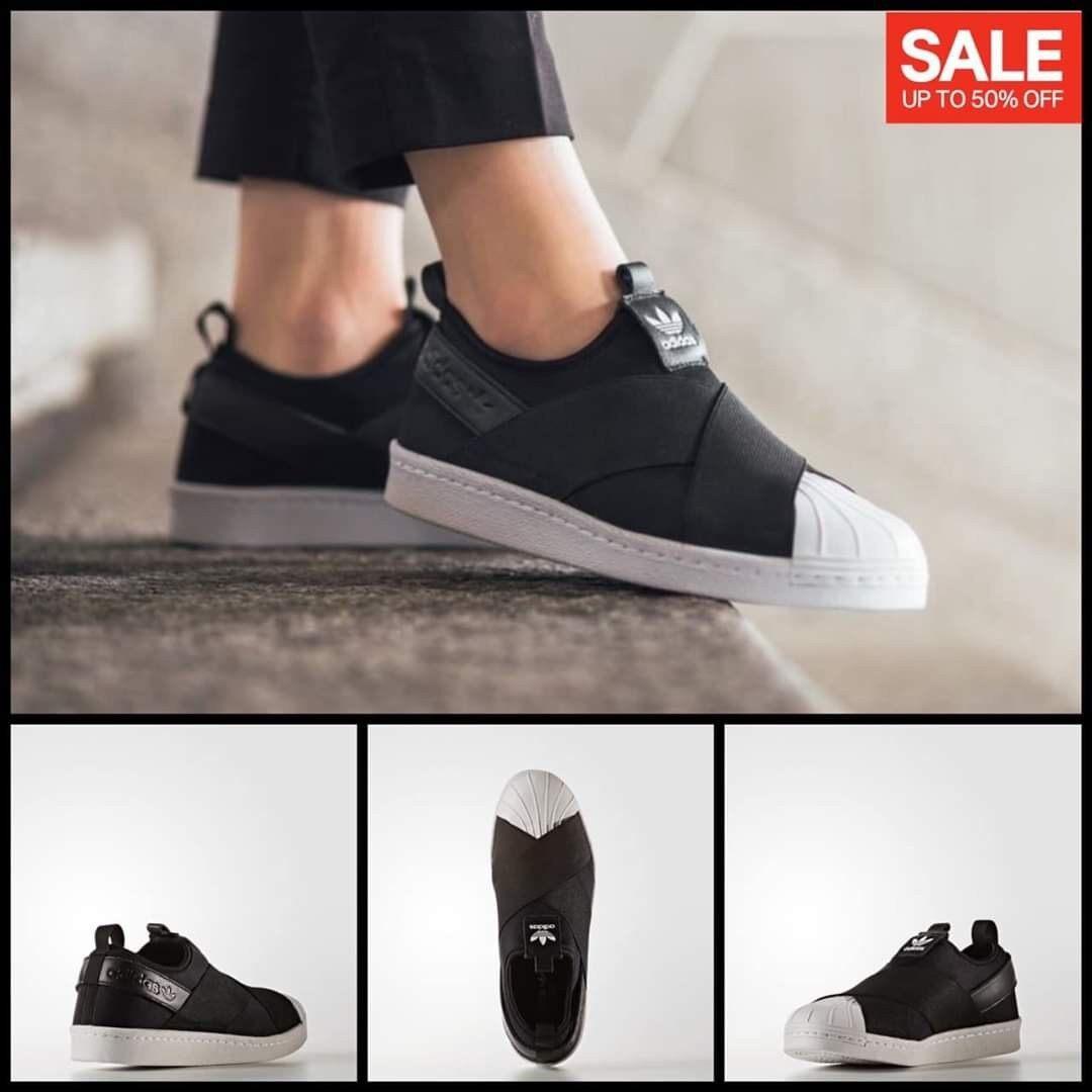 รองเท้าผ้าใบadidas Superstar Slip Onลดราคาล้างสต๊อค สวยตรงปก100%.