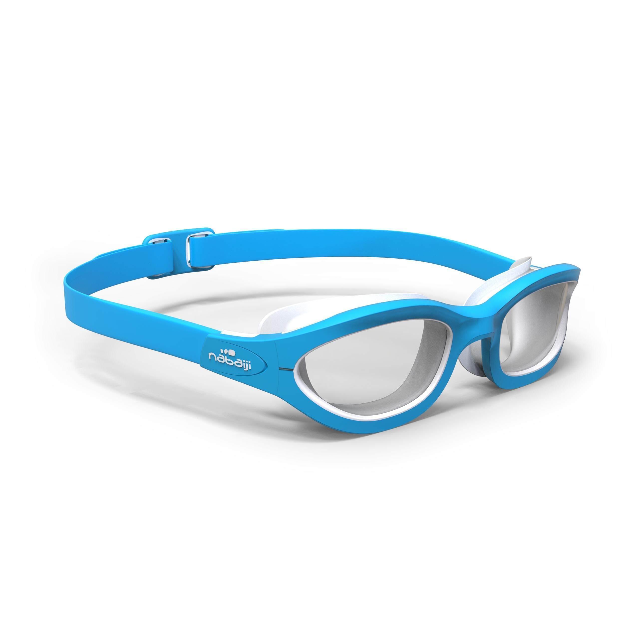 [ส่งฟรี!!ไม่มีขั้นต่ำ] แว่นตาว่ายน้ำรุ่น 100 EASYDOW ขนาด S (สีฟ้า) สำหรับ ว่ายน้ำ