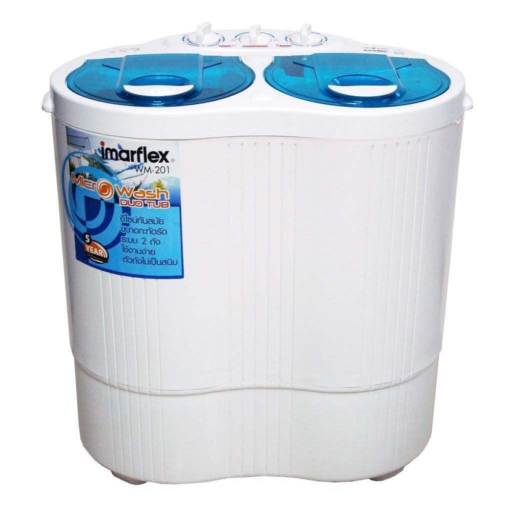 Imarflex เครื่องซักผ้าสองถัง ขนาดความจุ 2 กิโลกรัม รุ่น Wm-201.