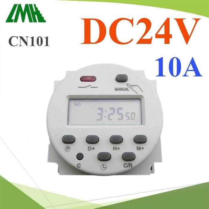 เครื่องตั้งเวลา แบบนาที Time Switch ตัดวงจรไฟ Dc 24v 17 โปรแกรม รุ่น Cn101-Dc24v.