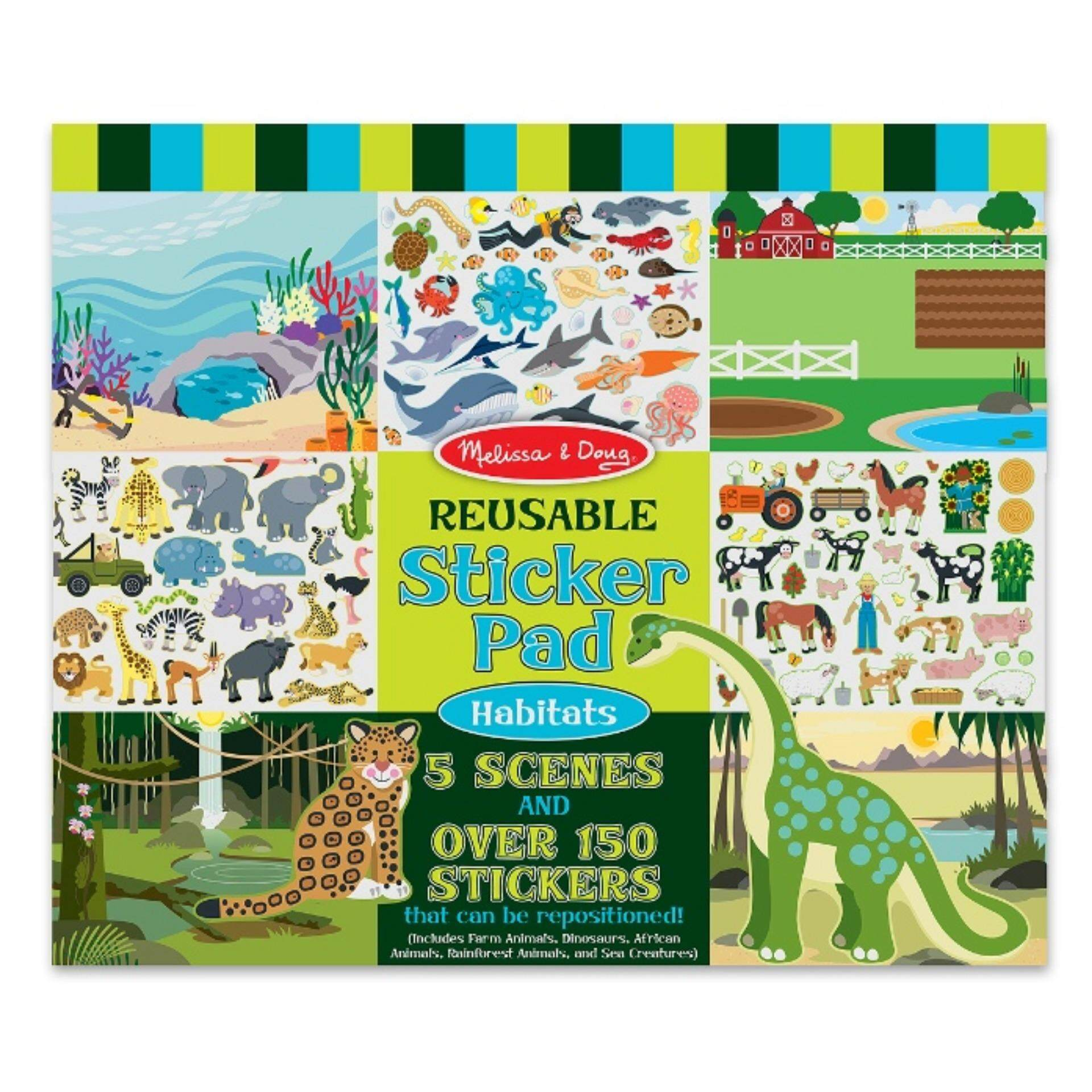 Melissa and Doug Reusable Sticker Pad - Animal