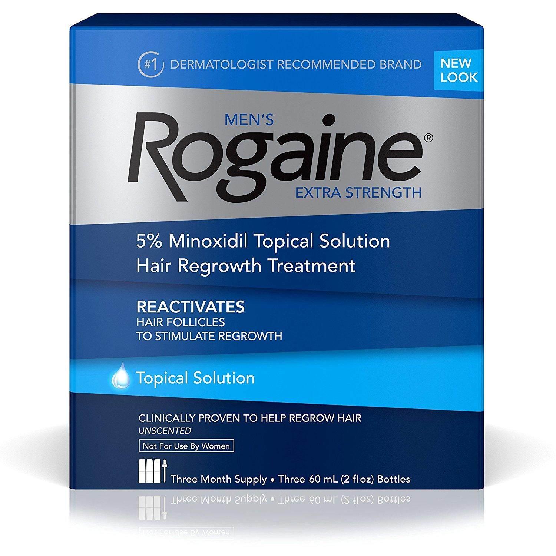 Rogaine Lotion 5% ไมนอกซิดิล น้ำยาปลูกผมสำหรับผู้ชาย   (ชุด 3 เดือน) Usa แท้.