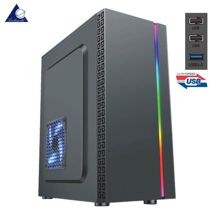 Venuz Atx Computer Case Vc1612 With Rgb Led Lighting & Usb3.0 - Black By Linkworld Electronic (thailand) Co.,ltd..