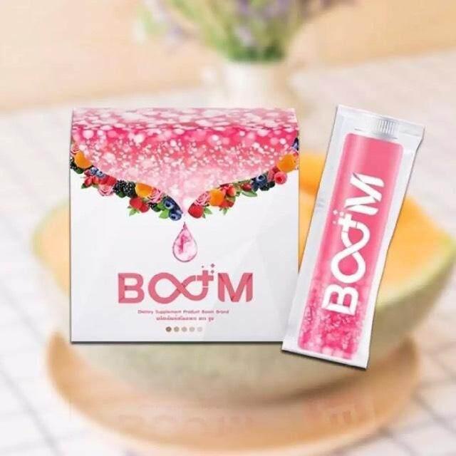 Boom Collagen บูม คอลลาเจน บำรุงผิวสวยจากภายใน บรรจุ 14 ซอง (1 กล่อง) By Herbal_health.
