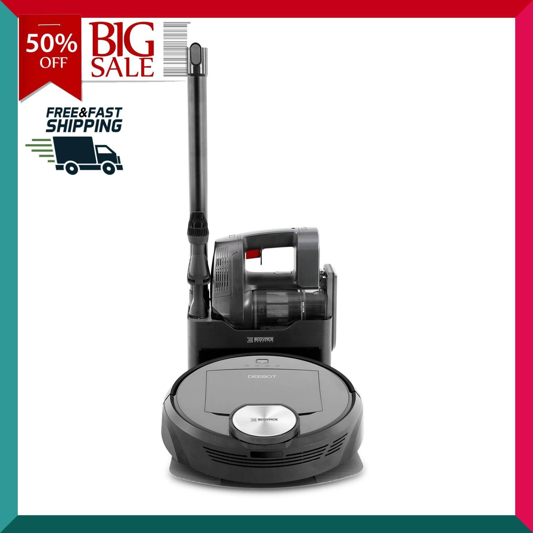 ECOVACS หุ่นยนต์ทำความสะอาด รุ่น Deebot R98 สีดำ เครื่องดูดฝุ่นอัตโนมัติ หุ่นยนต์ดูดฝุ่น เครื่องดูดฝุ่น เครื่องทำความสะอาด Vacuum Cleaner สินค้าคุณภาพ Premium !!! จัดส่งฟรี