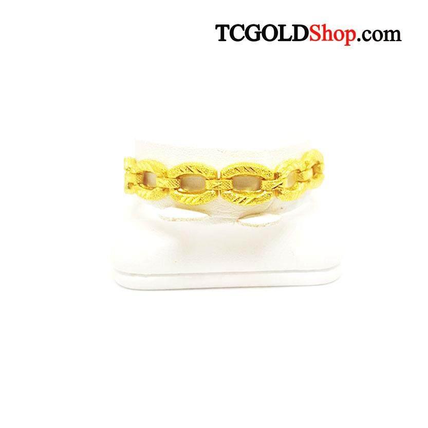 สร้อยข้อมือทองคำแท้ 96.5% นน.1 บาท ลายบิดห่วงห่าง By Tc Gold Shop.