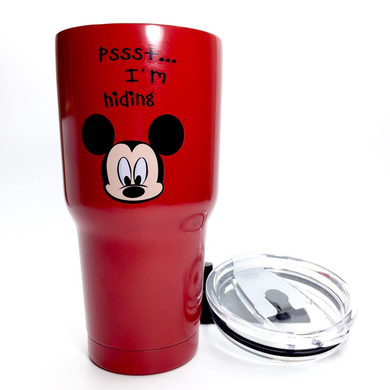 แก้วเยติ ขนาด 30 ออนซ์ แก้วเก็บความเย็นเก็บความร้อน แก็วเก็บความเย็น 24ชม. เนื้อเงาสกรีน  อย่างหนา อย่างดี น้ำหนัก 480g แก้วกาแฟ แก้วเบียร์ สแตนเลส 304.