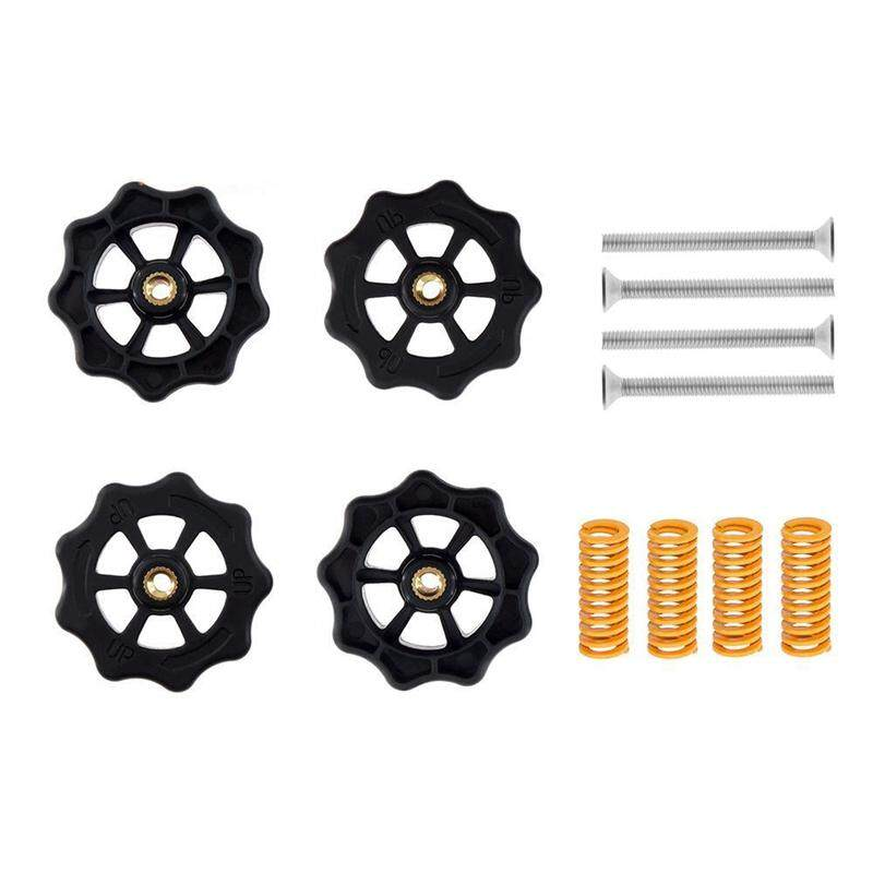 4Pcs 3D Printer Parts M4 x 40Mm Upgraded Big Hand Twist Auto Leveling Nuts for Mini Ender 3 CR10 CR-10S 3D Printer Accessories
