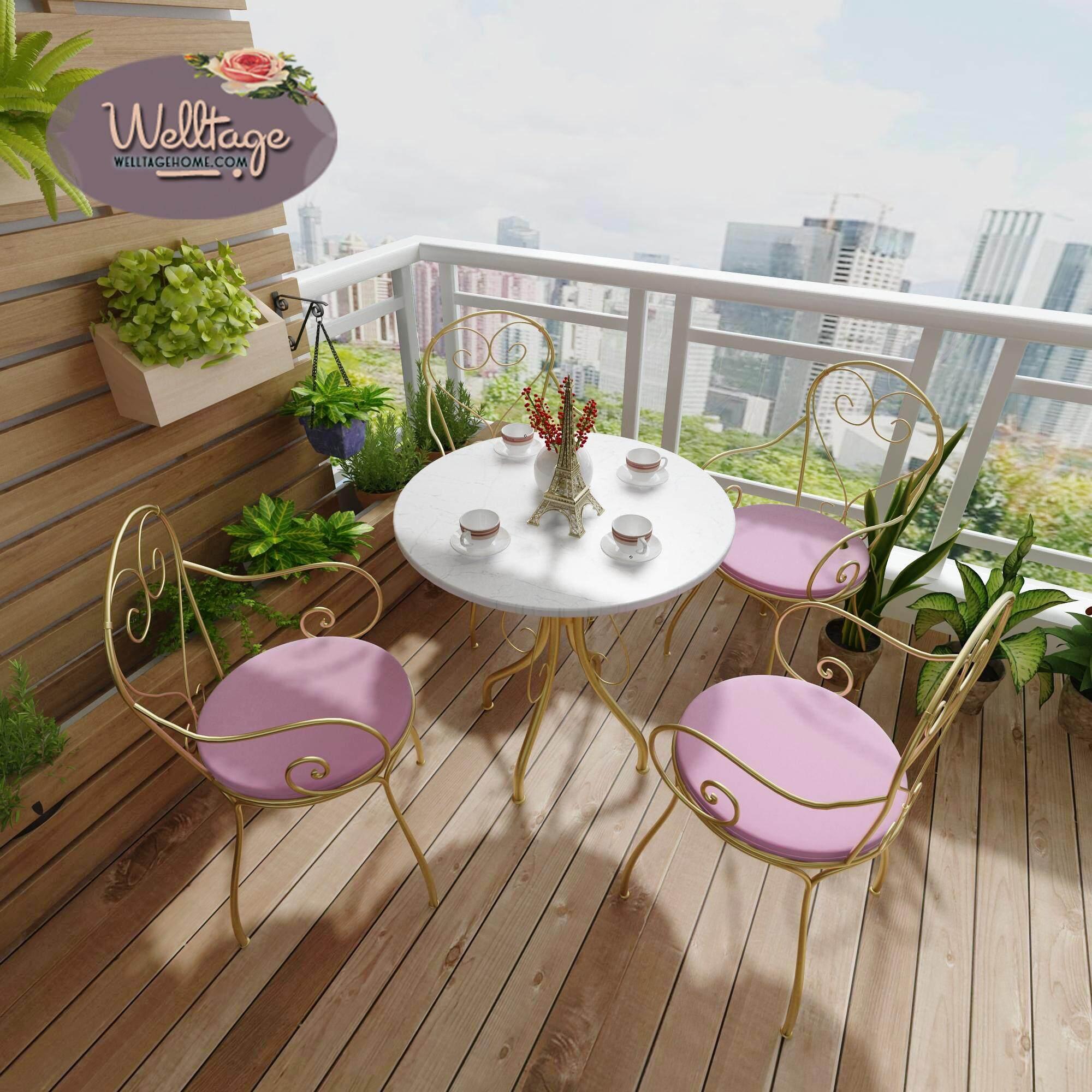 เก้าอี้โต๊ะกาแฟสไตล์ยุโรป พักผ่อนอย่างสบาย สวยงาม แข็งแรง By Welltage Design.