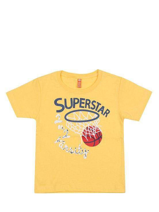 เสื้อยืดแขนสั้น สีเหลือง ไซส์ 5-6 ปี