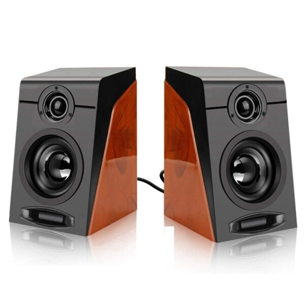 3Wx2 Computer Speakers with Surround Stereo USB Wired Powered Multimedia Speaker for PC/Laptops/Smart Phone Malaysia