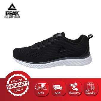 PEAK รองเท้า วิ่ง มินิ มาราธอน Mini Marathon ระบายอากาศ พีค Running Shoe รุ่น E91577H Black-