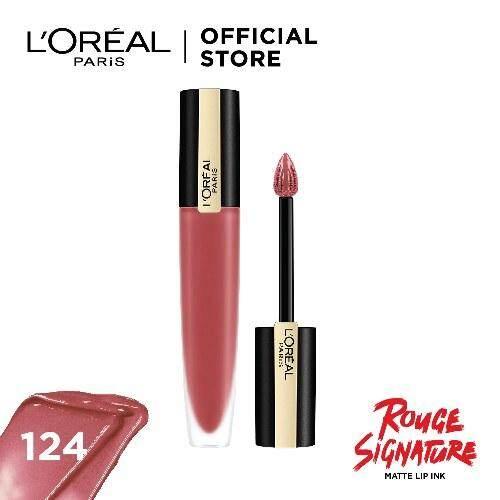 ลอรีอัล ปารีส รูจ ซิกเนเจอร์ แมท ลิป อิงค์ Loreal Paris Rouge Signature (เครื่องสำอาง, ลิปสติก, ลิปแมท, ลิปจิ้มจุ่ม) By L'oreal Paris(thailand).