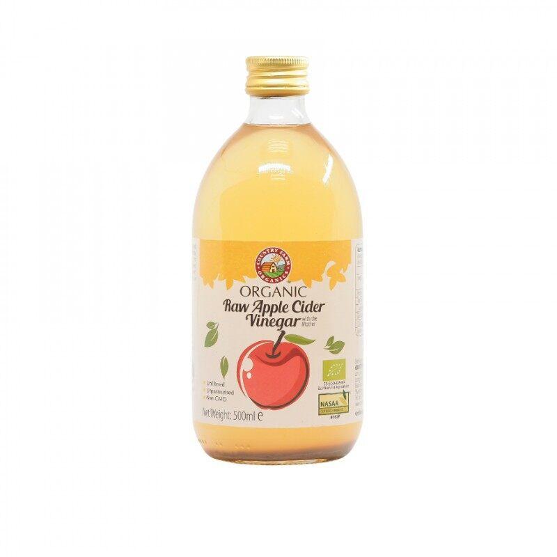 Acv คันทรีฟาร์ม ออแกนิกแอปเปิ้ลไซเดอร์ไวเนการ์ ขนาด 500 มล. Organic Apple Cider Vinegar (500ml).