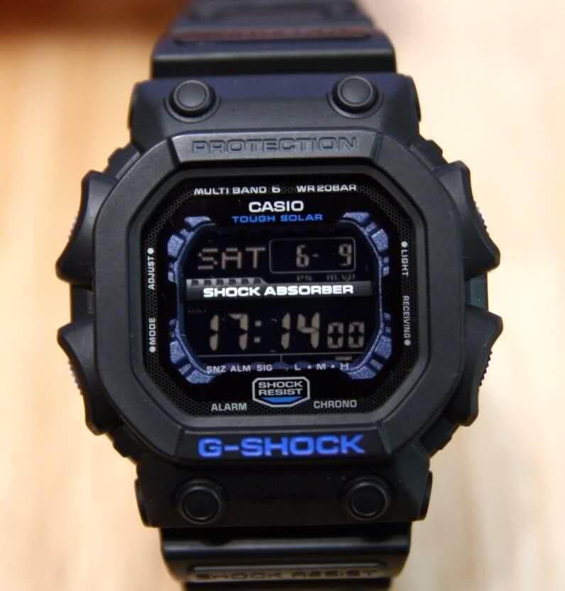 2019 Casio G-Shock นาฬิกาข้อมือผู้ชายสายเรซิ่นรุ่น Gxw-56e-1-สีดำของแท้ 100%.