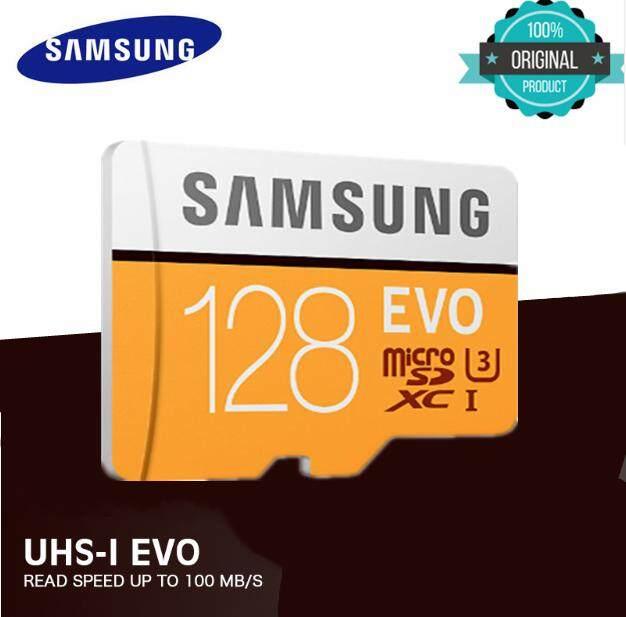 Samsung Micro Sd การ์ดการ์ดหน่วยความจำ 128gb Sdhc Sdxc สูงสุด 95m / S Evo 128 กิกะไบต์ C10 การ์ด Tf Trans Trans Flash Card By Gigabit Memory Card.