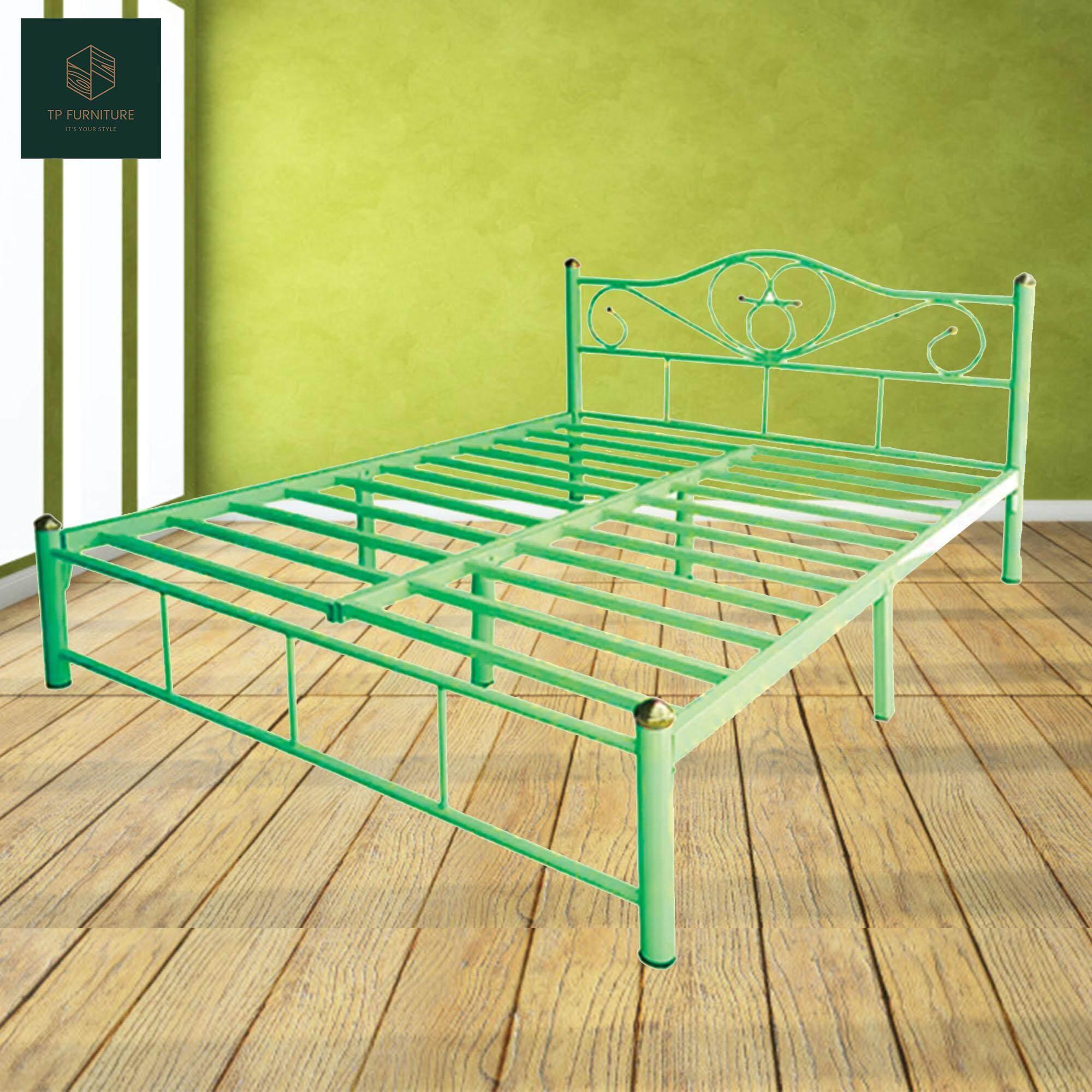 Otp เตียงเหล็ก 6ฟุต ขา2นิ้ว รุ่นโลตัส By Tp Furniture.