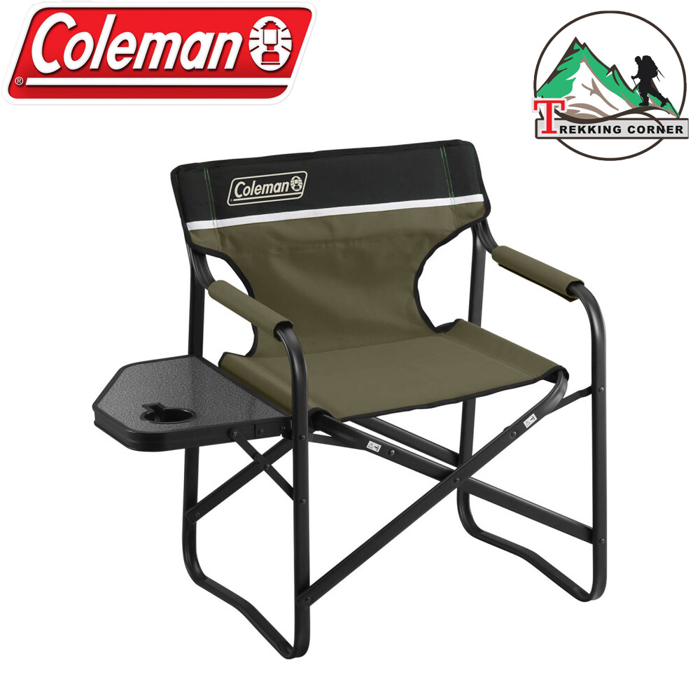 Coleman Portable Deck Chair With Side Table Rv Parts Accessories Camping Furniture