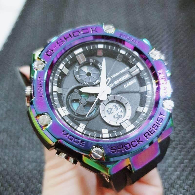 นาฬิกา G-Shock สีไทเทเนียม ราคาพิเศษ Casio G-Shock Titanium รุ่นใหม่ล่าสุด 2019 ขนาด 50mm. ถ่ายจากสินค้าจริง100% พร้อมกล่องแบรนด์ G-Shock No.gt-0075 มีชำระเงินปลายทาง.