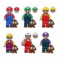 ZICHAOJ DIY Creativity Anime Cartoon Small Model Mushroom Luigi Mini Blocks Assemble Model Bricks Toys Building Blocks Super Mario Bros