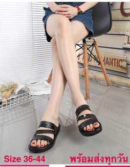 รองเท้าแตะ รองเท้าแตะหญิงรองเท้าแฟชั่น นุ่ม ใส่สบาย CDM16808 size 36-44(แนะนำให้ซื้อเพิ่ม2เบอร์)