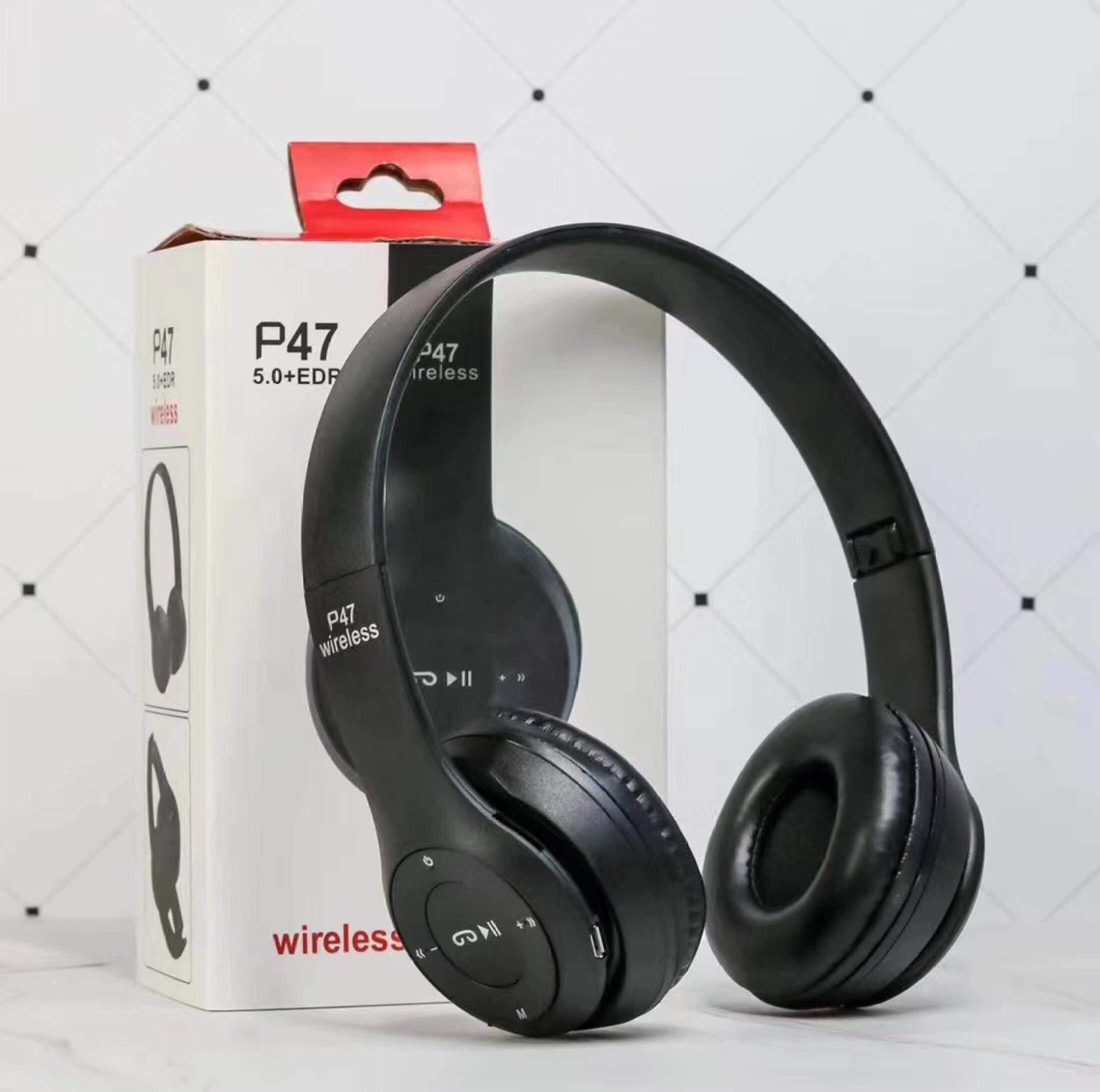 หูฟังบลูทูธ หูฟังไร้สาย หูฟัง Bluetooth 5.0 รุ่น P47 Wireless Headphones