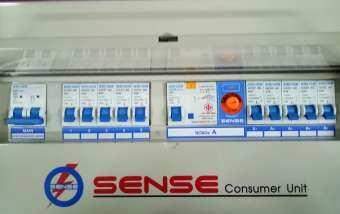 ตู้ควบคุมไฟฟ้า (ตู้คอนซูมเมอร์ยูนิต) ขนาด 10 ช่อง แยก4 พร้อม 63A เครื่องตัดไฟรั่ว (RCD) ในตัว เซนส์ รุ่น U10 1 ตู้ ตู้sense กันดูด ตู้ควบคุมระบบไฟฟ้าภายในบ้านชนิดแยกส่วน (Split Bus) ขนาด 10 วงจรย่อย พร้อมเครื่องตัดไฟรั่ว (RCBO)
