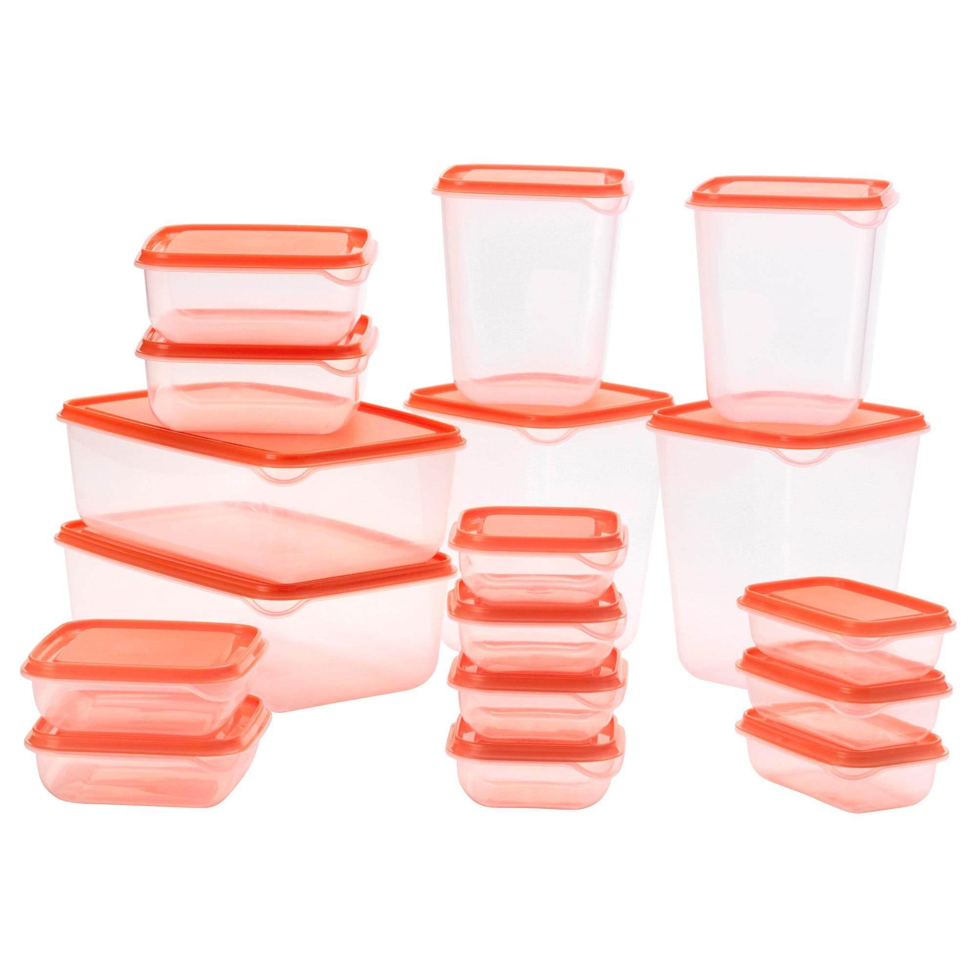 ลดราคา Pruta พรูทต้า ชุดกล่องเก็บอาหาร 17 ชิ้น ใส จาก Ikea By Tookstuta.