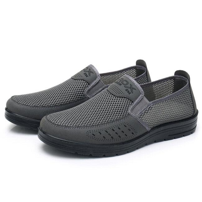 Giày vải Bắc Kinh xưa nam giày lưới giày cho bố trung tuổi cao tuổi mặt lưới thoáng khí mùa hè giày nam cho người già thường ngày đế mềm nhẹ giá rẻ