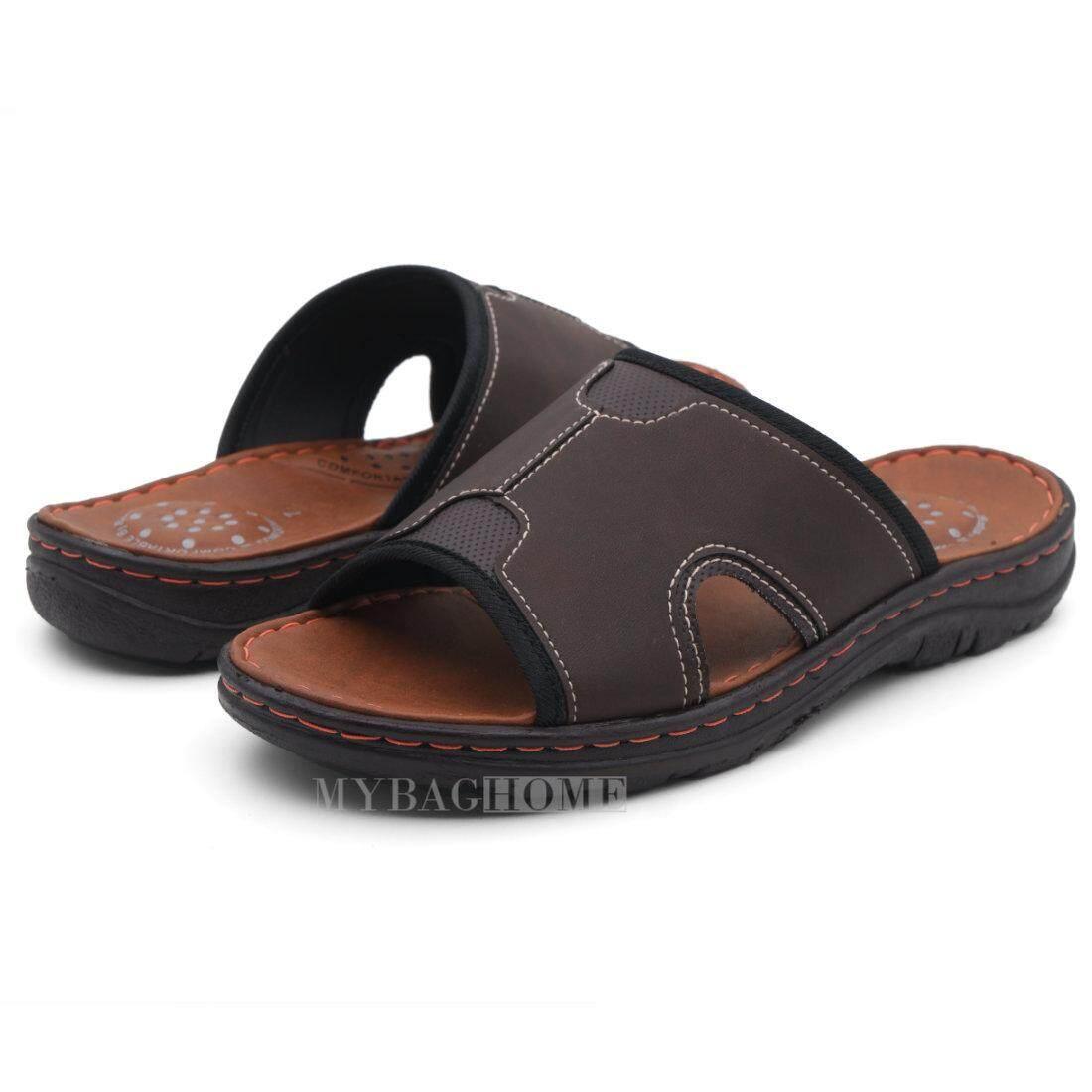 Bata รองเท้าแตะผู้ชายบาจา แบบสวม สีน้ำตาล 8614718