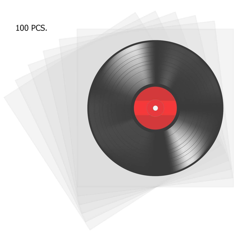 ซองพลาสติกใส่แผ่นเสียง ซองใสใส่แผ่นเสียง ซองชั้นในใส่แผ่นเสียง สำหรับแผ่นขนาด12นิ้ว (100 Pcs.).