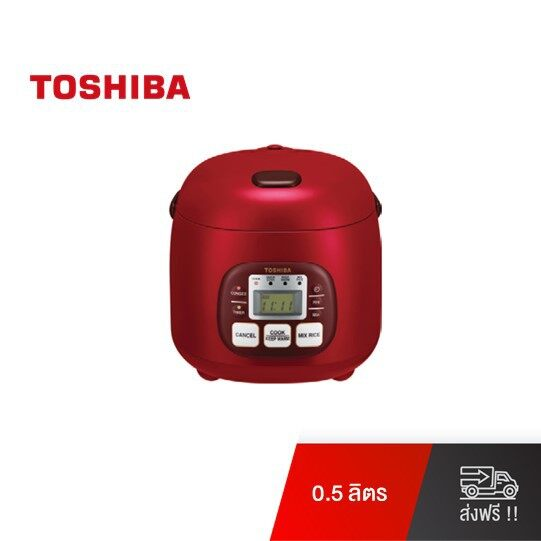 Toshiba หม้อหุงข้าวดิจิตอล ความจุ 0.54 ลิตร รุ่น RC-5MM(R)A - (แดง)