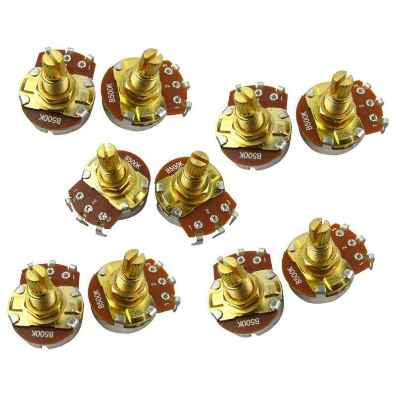 10Pcs Guitar Full Size Pots L18Mm Shaft Audio Volume Taper Potentiometers For Electric Guitar Bass Parts Malaysia