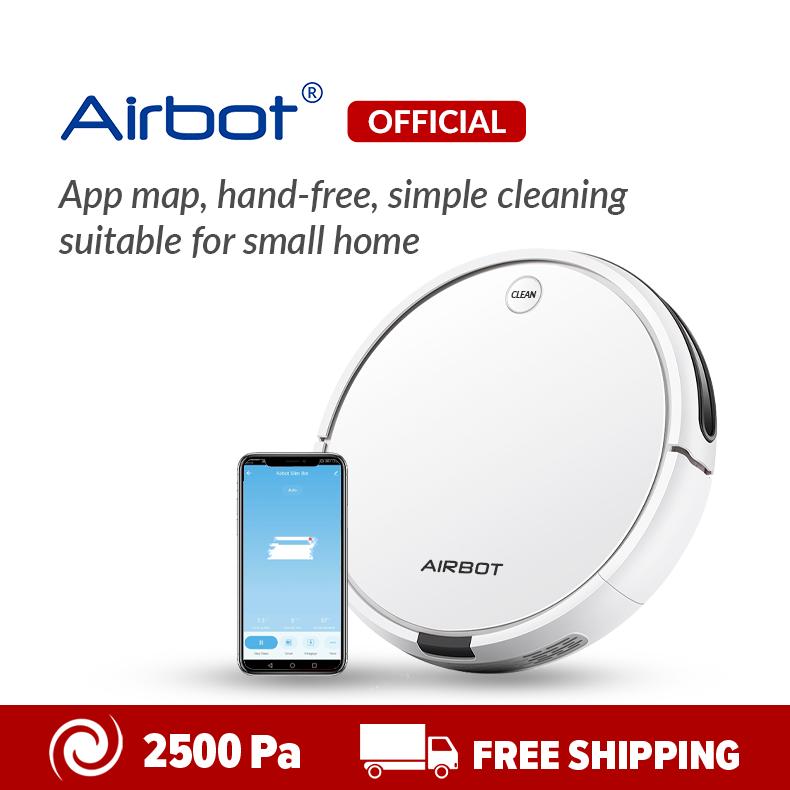 Airbot A500 Slim Pure Robot Vacuum Clean หุ่นยนต์ดูดฝุ่น Cyclone APP Map TUYA SMART IoT 2500Pa Slim Body SLAM 3.0 การกวาดและการถู
