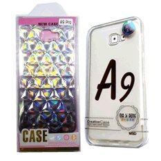 Fashion Case เคส กรอบโทรศัพท์ มือถือ ซัมซุงกาแล็คซี่ A9 Pro ซิลิโคนเพชรโทนเทา+ซิลิโคนใส.