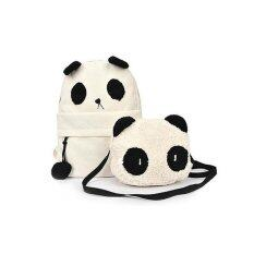 ราคา Fashion Cute Women G*rl Panda Mother Baby Shoulder Backpack Handbags Bag Set ถูก