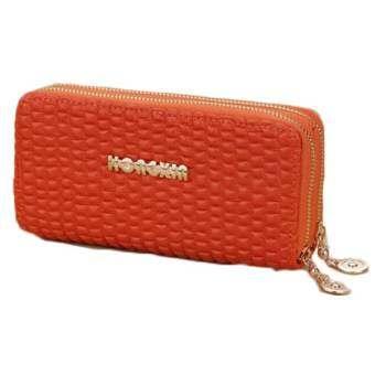 Fashion Handbag Long Chain PU Hard Shoulder Bags Ladies' Wallet PU Handbag For Women  (Orange)-509-
