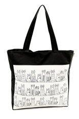 ขาย Lady Bags กระเป๋าผ้าใบสตรี สะพายข้างแฟชั่น Lbf 031 สีดำ ขาว Ladybags ถูก