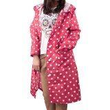 ขาย Fashion Windproof Women S Polka Dots Pattern Slim Long Hooded Raincoat Poncho Bicycle Riding Cape Free Size Rosy ใหม่