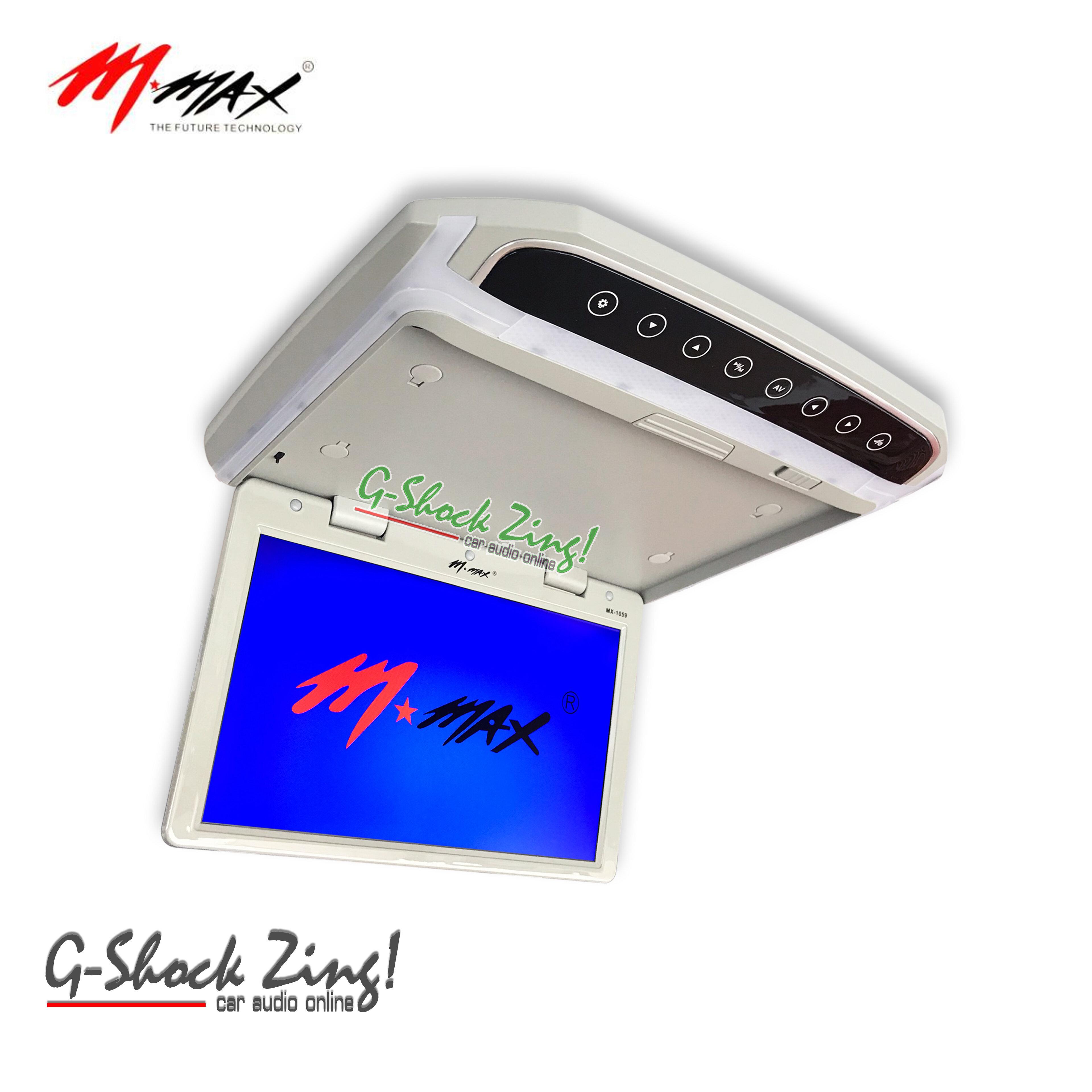 TVทีวีติดเพดานรถยนต์ จอขนาด 10 นิ้ว ความละเอียดสูง/บาง/ระบบสัมผัส จอเพดาน mmax รุ่น mx1059